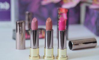 Urban Decay Vice Lipstick: Sheer Liar, Violet, Sheer Anarchy