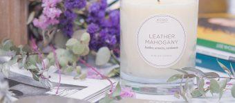 KOBO Candles Ароматическая свеча Leather Mahogany