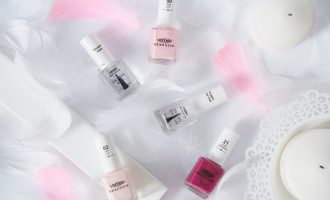 Berenice 50 Baby Pink, 02 Pale Pink, 21 Purple Temptation, Oxygen Base, Oxygen Top Coat