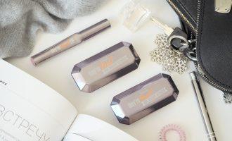 Benefit Двойные тени Duo Shadow Blender и Губная помада-карандаш Double The Lip Отзыв, Свотчи